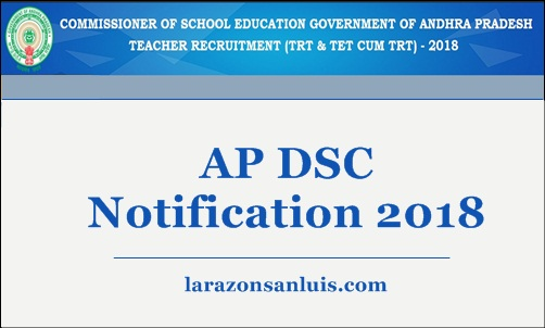 AP DSC Notification 2018 Apply Online