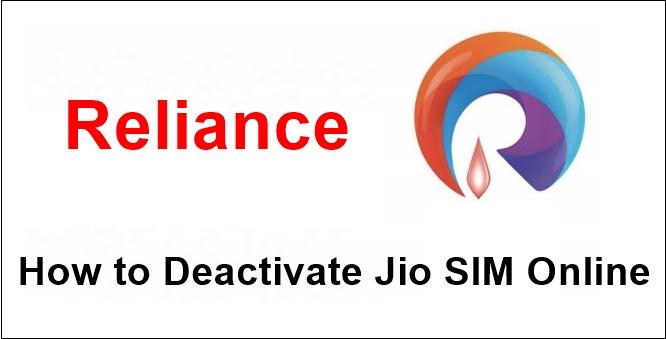 How to Deactivate Jio SIM Online