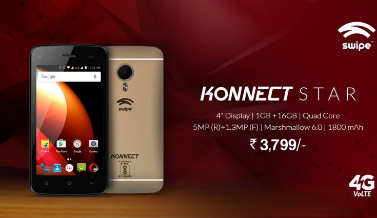 Swipe Konnect Star Mobile (4G VoLTE) Online Booking