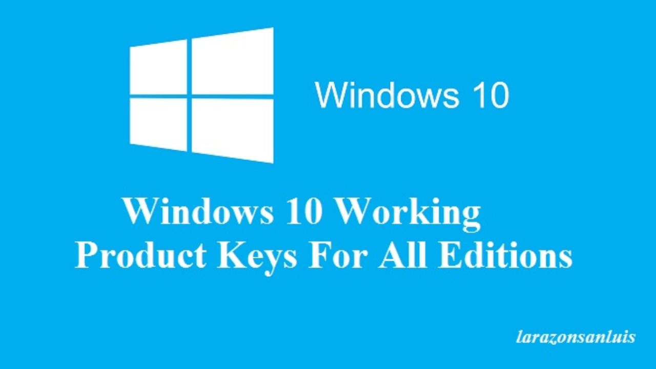 Windows 10 Full Version Activation Keys 2019 (100% Working