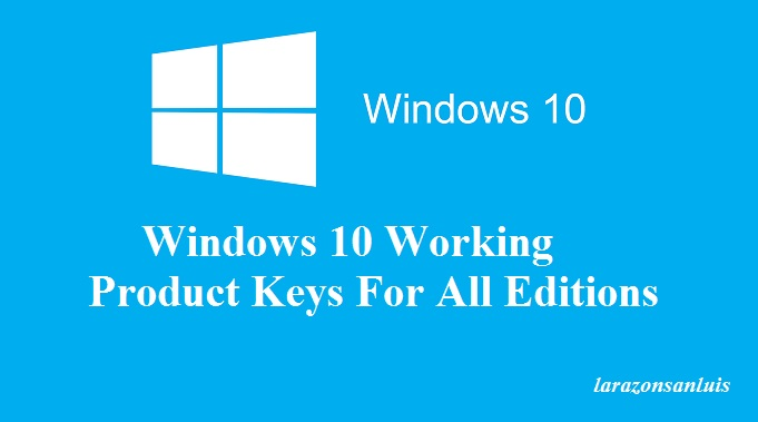 windows 10 pro product key free 2017
