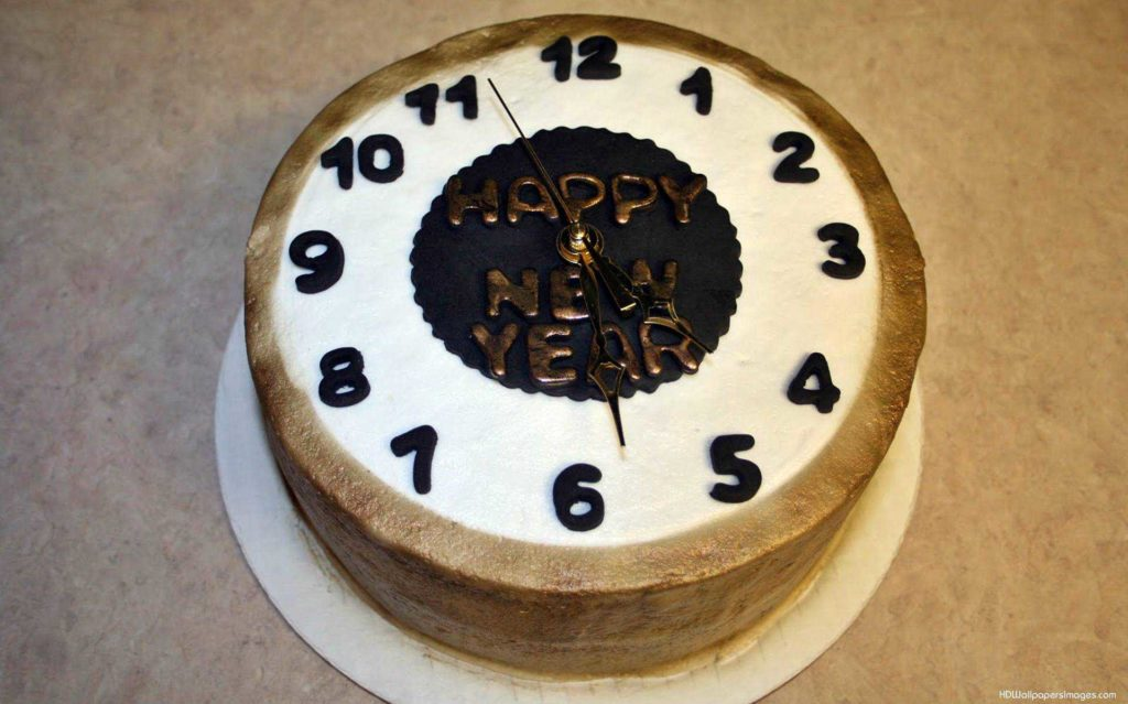 beautiful new year cake design images pictures