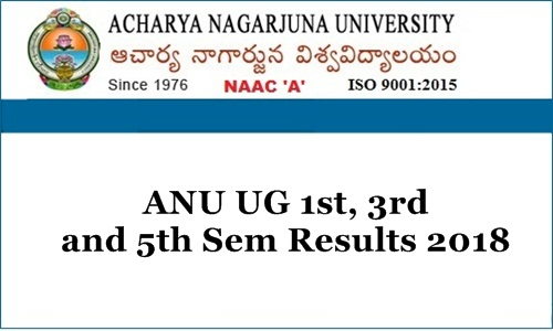 ANU Degree 1st, 3rd & 5th Sem Results 2018
