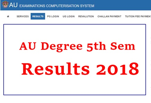 AU Degree 3rd Year (5th Sem) Results 2019