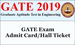GATE 2019 Admit Card
