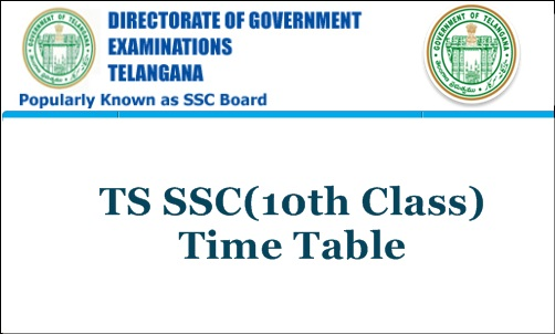 TS 10th Class time table