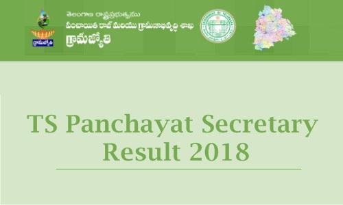 TS Panchayat Secretary Result 2018