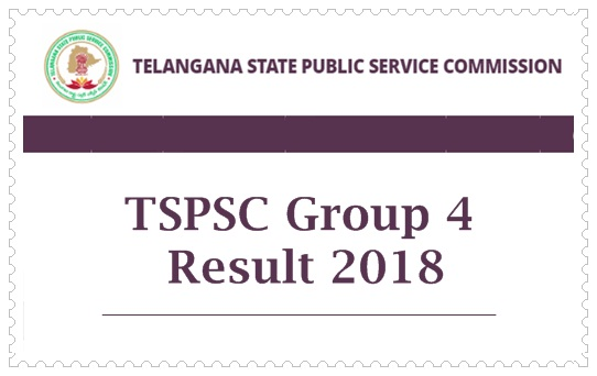 TSPSC Group 4 Results 2018