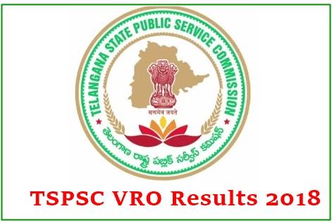 TSPSC VRO Results 2018