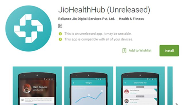 Reliance Jio Health Hub App Download