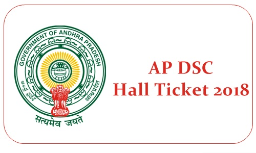 AP DSC Hall Ticket 2018