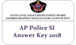 AP Police SI Answer Key 2018