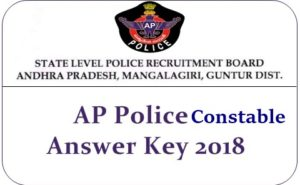 AP Police Constable Answer Key 2019