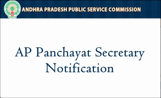 APPSC Panchayat Secretary Notification