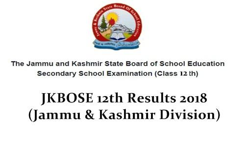 JKBOSE 12th Class Result 2018