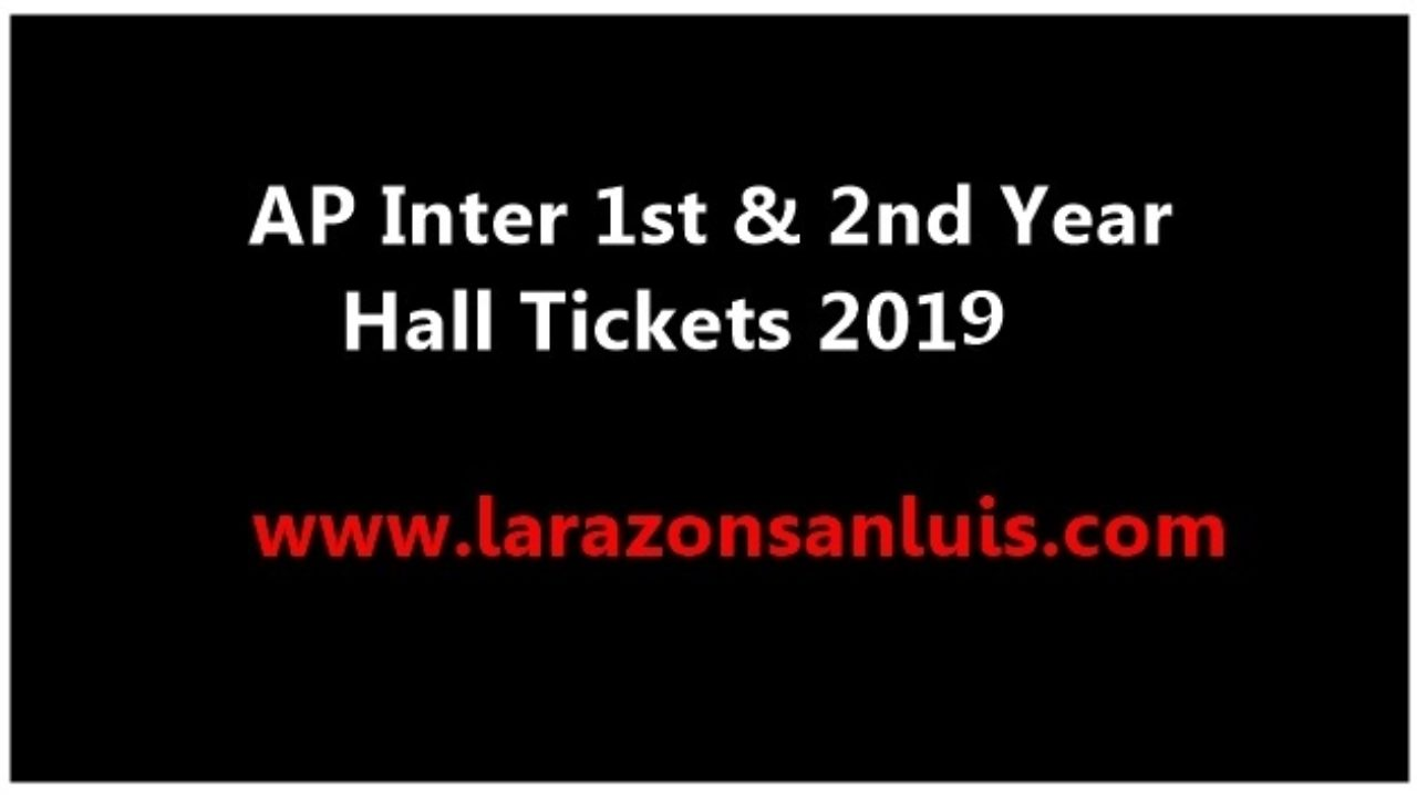 AP Inter 1st Year & 2nd Year Hall Tickets 2019 (Available