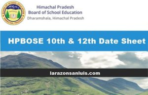 hpbose 10th-12th date sheet 2019