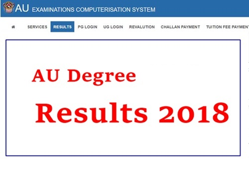 AU Degree 1st Year (1st Sem) Results 2019 Released - Andhra