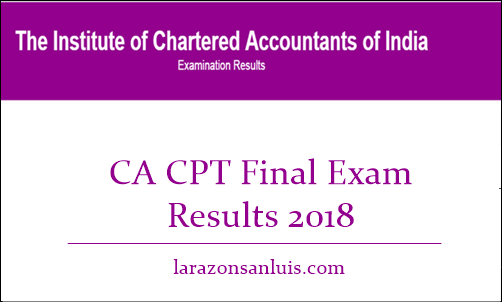 CA CPT Final Results 2018