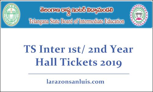 TS Inter 1st 2nd Year Hall Tickets 2019