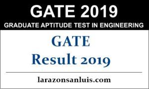 GATE Result 2019