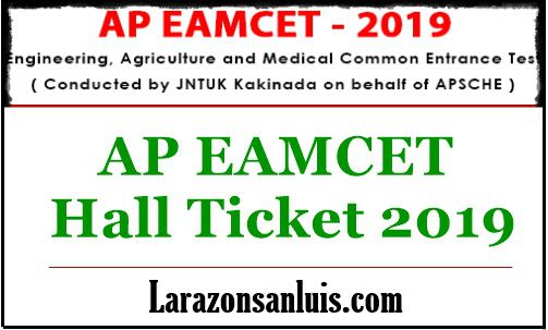 AP EAMCET 2019 Hall Ticket