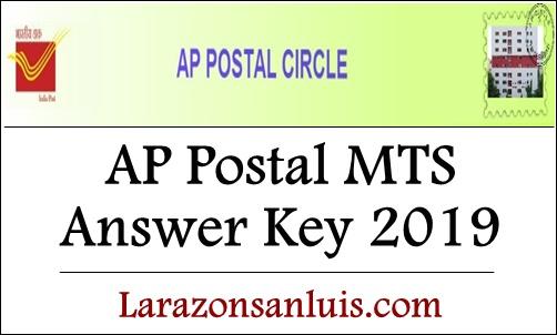 AP Postal Circle MTS Answer Key 2019