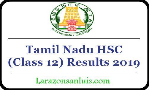 Tamil Nadu HSC Results 2019
