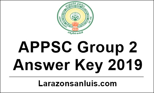 APPSC Group 2 Answer Key 2019
