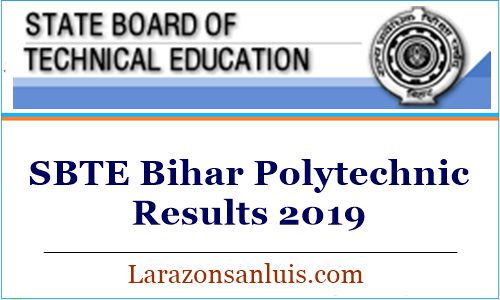 SBTE Bihar Polytechnic Results 2019