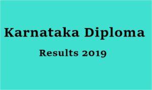 DTE Karnataka Diploma Results 2019