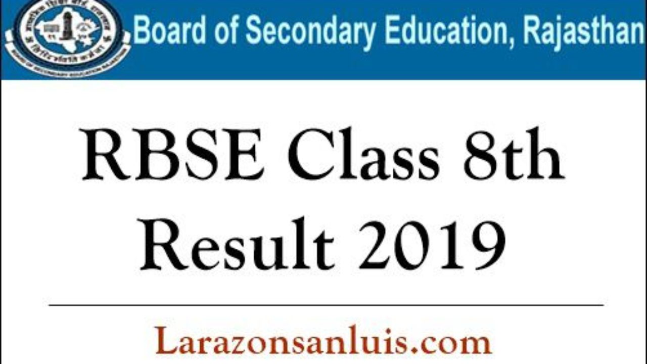 RBSE Class 8th Result 2019 (Released) - BSER Rajasthan Board