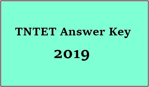 TNTET Answer Key 2019