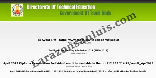TNDTE Diploma Result April 2019 Direct Link (Released