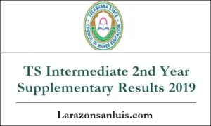 TS Intermediate 2nd Year Supplementary Results 2019
